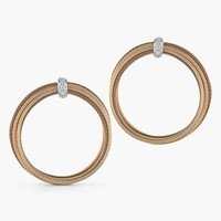 Women's ALOR Cable & Diamond Hoop Earrings