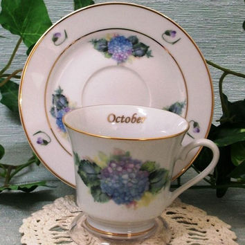Flower of the Month Teacup - October