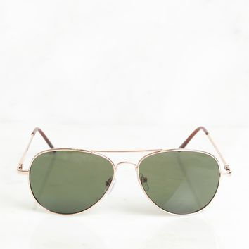 Classic Aviator Sunglasses Rose Gold