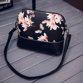 Printed Shoulder Bag Faux Leather Purse Satchel Messenger Bag
