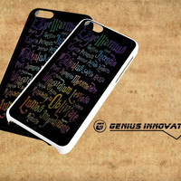Harry Potter Spell Black Cover Samsung Galaxy S3 S4 S5 Note 3 , iPhone 4(S) 5(S) 5c 6 Plus , iPod 4 5 case