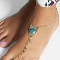 Orion Feather Linked Ankle Bracelet