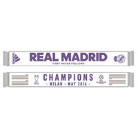 Real Madrid UCL 2016 Winners Scarf - White