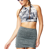 Fade To Gray Dark Heather Mini Skirt