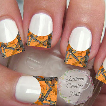 Long French Tip Camo Nail Art Decals Decal  Nail Art Decals