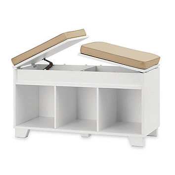 Real Simple® Split-Top Bench Storage Unit in White