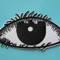Iron-on Embroidered Patch EYE 3.5 inch