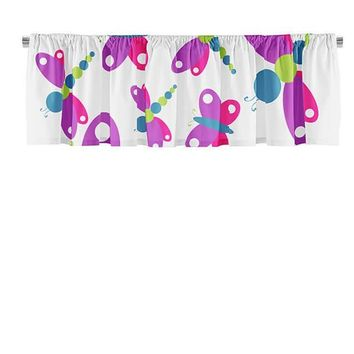 Butterfly and Dragonfly Valance