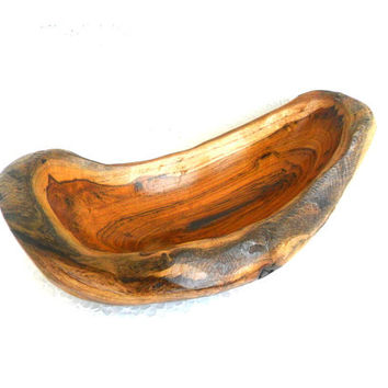 "Natural Wooden Bowl Rustic Driftwood Bowl Handmade Teak Wood Bowl Home Art Decor / Zen Art / Gift 8.5""X5""X2.75""  rustikalen Schüsse"