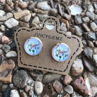 12mm Cow Skull Earrings