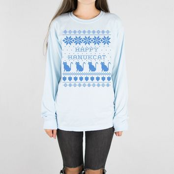 Happy Hanukcat Long Sleeve