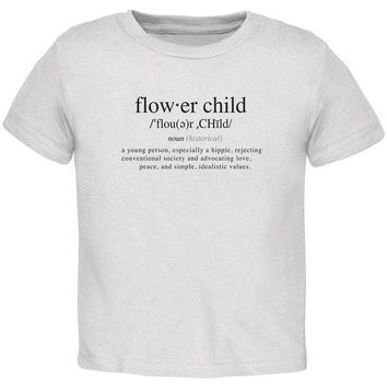 ESBGQ9 Flower Child Definition Toddler T Shirt