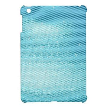 Bling, Lycra-Wet-Look, Pastel Blue iPad Mini Cover from Zazzle.com