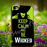 Keep Calm And Wicked - for iPhone 4/4s, iPhone 5/5s/5C, Samsung S3 i9300, Samsung S4 i9500 Hard Plastic Case