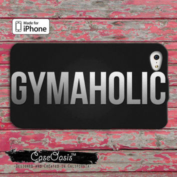 Gymaholic No Excuses Gym Crossfit Custom iPhone 4 and 4s Case and Custom iPhone 5 and 5s and 5c Case wod working out buff