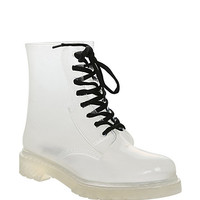 Design Clear Patent Jelly Boot | Hot Topic