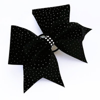 Cheer bow, Black cheer bow, sliver glitter cheer bow, cheerleader bow, cheerleading bow, cheerbow, softball bow, dance bow, pop warner bow