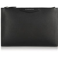 Givenchy - Antigona pouch in black textured-leather