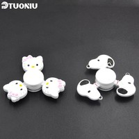 2017 New Multicolor Kawaii Hello Kitty Metal Fidget Spinner EDC Toy Hand Spinner For Autism and ADHD Anti Stress Toys