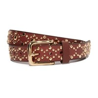Flat Strap Belt with Studs