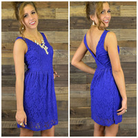 Cassidy Cobalt Blue Lace Tank Dress