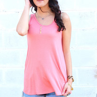 Go with the Flow Basic Tank {Coral}