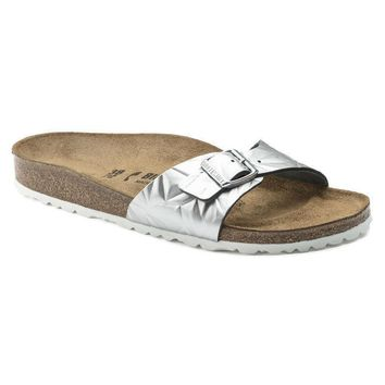 Sale Birkenstock Madrid Leather Spectral Silver 1008454 Sandals