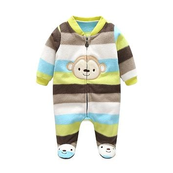 Baby Romper Cotton Baby Girl Romper Long Sleeve Baby Boy Clothing Set Polar Fleece Newborn Baby Clothes Roupas Bebe Kid Jumpsuit
