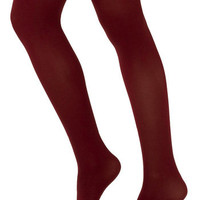 Tights for Every Occasion in Wine | Mod Retro Vintage Tights | ModCloth.com