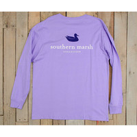 Southern Marsh Authentic Long Sleeve Tee - Lilac