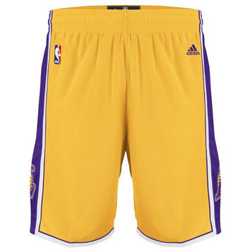 adidas Los Angeles Lakers Youth Swingman Shorts - Gold - http://www.shareasale.com/m-pr.cfm?merchantID=7124&userID=1042934&productID=521365549 / Los Angeles Lakers