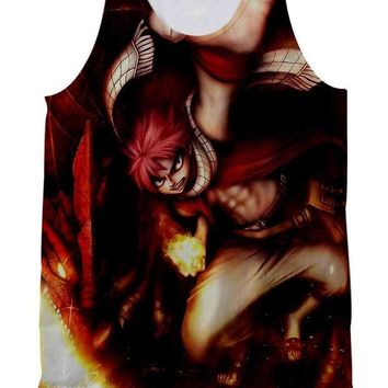 ESBP7V Fairy Tail Natsu And Igneel Tank Top Full Print