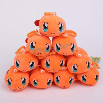 Pikachu Squirtle Charmander Eevee Umbreon Sylveon Espeon Bulbasaur Mini Plush Pendant Toys Soft Stuffed Dolls 10cm 10pcs/lot