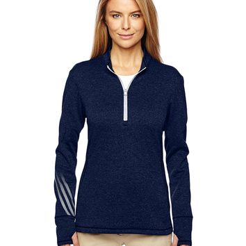 Adidas - Golf Women's Brushed Terry Heather Quarter-Zip Jacket - A275