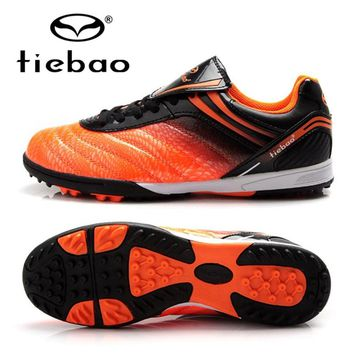 TIEBAO Professional Botas De Futbol Outdoor Soccer Shoes Kids Soccer Cleats TF Turf Soles Football Boots Sneakers EU 30-38