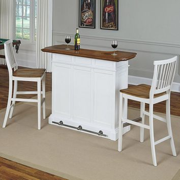 Home Styles 3-piece Americana Bar & Stools Set (Oak/Antique White)