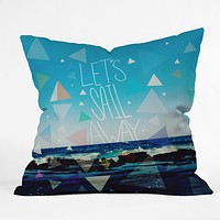 Leah Flores Lets Sail Away Throw Pillow