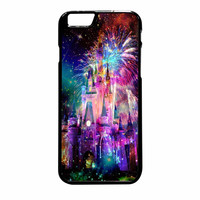 Disney Castle Fireworks Design On Nebula iPhone 6 Plus Case