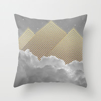Silence is the Golden Mountain (Stay Gold) Throw Pillow by Soaring Anchor Designs