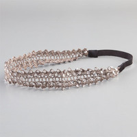 Full Tilt Sequin Crochet Headband Black One Size For Women 22881810001