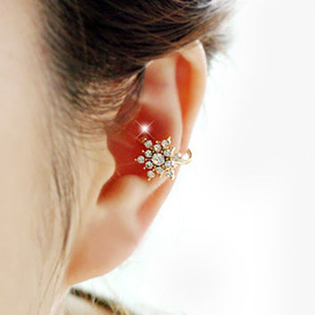 Earring Fashion Rhinestone Korean Stylish Earrings = 4806938244