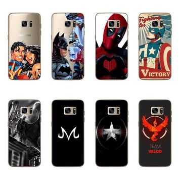 Deadpool Dead pool Taco Case For Samsung Galaxy S7 Edge Cool Hero Batman Superman  Victor Design Case Cover For Samsung S7 Edge Funda Capa Coque AT_70_6
