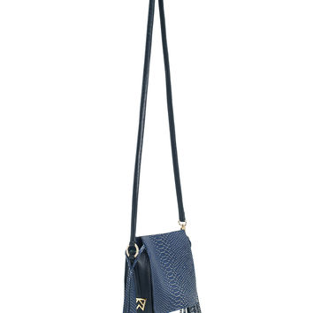 Sorry I'm Not Sorry Satchel in Foxy Navy Cobra