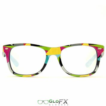 GloFX Geometric Wayfarer Diffraction Glasses