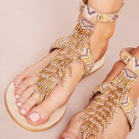 Sam Edelman Fringe Gladiator Sandals