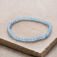 Light Blue Jade Mini Gemstone Energy Bracelet