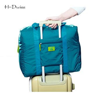 HDWISS Waterproof Nylon Pouch Folding Travel Bags Men Women Luggage Duffel Duffle Bag Carry on Hand Luggage Packing Cubes TB030