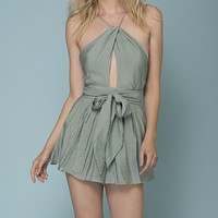 Final Sale - Hampton Open Back Romper - More Colors