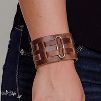 Fascinating Leather Vintage Scarf Cuff and Bracelet