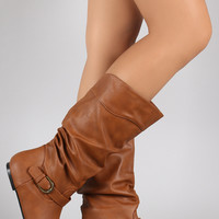 Wild Diva Lounge Slouchy Flat Boots